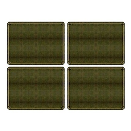 Pimpernel Shagreen Leather Placemats - Set of 4