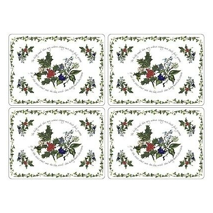Pimpernel Holly & The Ivy Placemats - Set of 4 (Large)