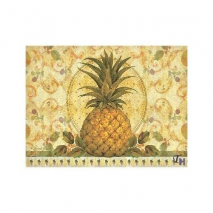 Pimpernel Golden Pineapple Placemats - Set of 4 (Large)