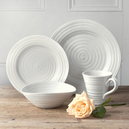 Portmeirion Sophie Conran White 4 Piece Placesetting