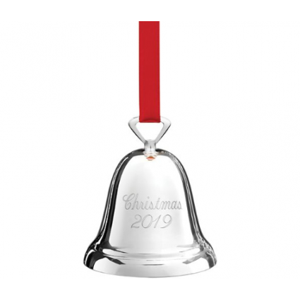 Annual 2019 Silverplated Christmas Bell Ornament